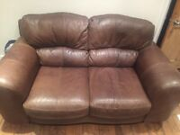 Three Seater and Two Seater Leather Settees