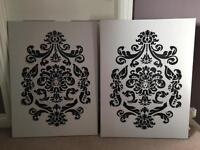 Pair of Canvases 60cm x 80cm perfect for a project