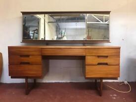 Vintage teak uniflex dressing table