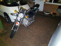 black haotian ht 125-8 vixen 125cc motorcycle