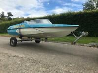 ** Marina speed boat with trailer **