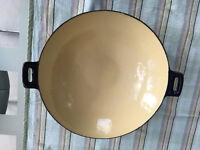 Enamelled Cast Iron Risotto pan