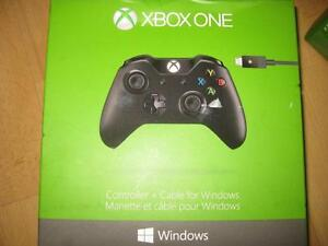 Microsoft Xbox One Wireless Controller + Cable for Windows. Like NEW