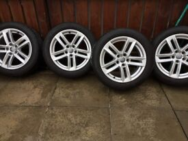 4-17 inch 2 year old Audi alloys Michelin tyres.