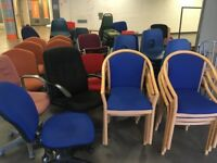Variety of used Office and meeting room furniture to be cleared (FOC)