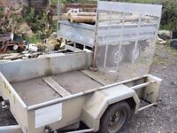 hazlewood galvanized plant trailer 6ft x 4ft 6inch single axle