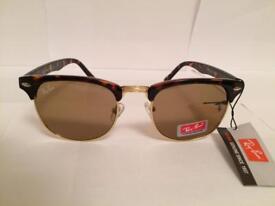 RayBan Clubmaster Sunglasses RB3016 (tortoiseshell brown/brown lens)