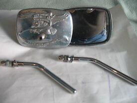 Motorcycle Mirrors and Stems.