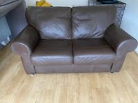 Free Brown leather sofa ...