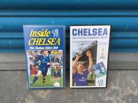 2x Rare Collectable Vintage Retro CHELSEA FOOTBALL TEAM VHS TAPES 80s and 90s SDHC