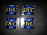 Panasonic DVC 90 Mini DV Video Camera Cassette Tapes 90 Minutes - X4 BRAND NEW STILLED SEALED
