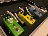 Mooer Pedal Board Setup - Basically Brand New! - with 4 pedals, a case and a power supply!