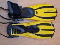 Diving Fins mares avantix-3 + boots Small Size 5-7