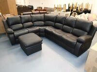 Brand New Large Corner Sofa. Comes In Black, Brown And Cream. Comes Left Or Right Handed.