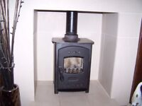 HAMLET HARDY 4 STOVE FOR SALE. Hamlet Hardy 4 Multifuel stove for sale, complete with 1.0m high flue