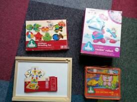 Bundle of child's / kids games- ELC sewing, magnets, rockin robot, megasketcher