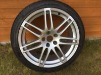 "X1 audi speedline 19"" alloy wheel with pirelli 255 35 19 tyre A4 B8 s line"