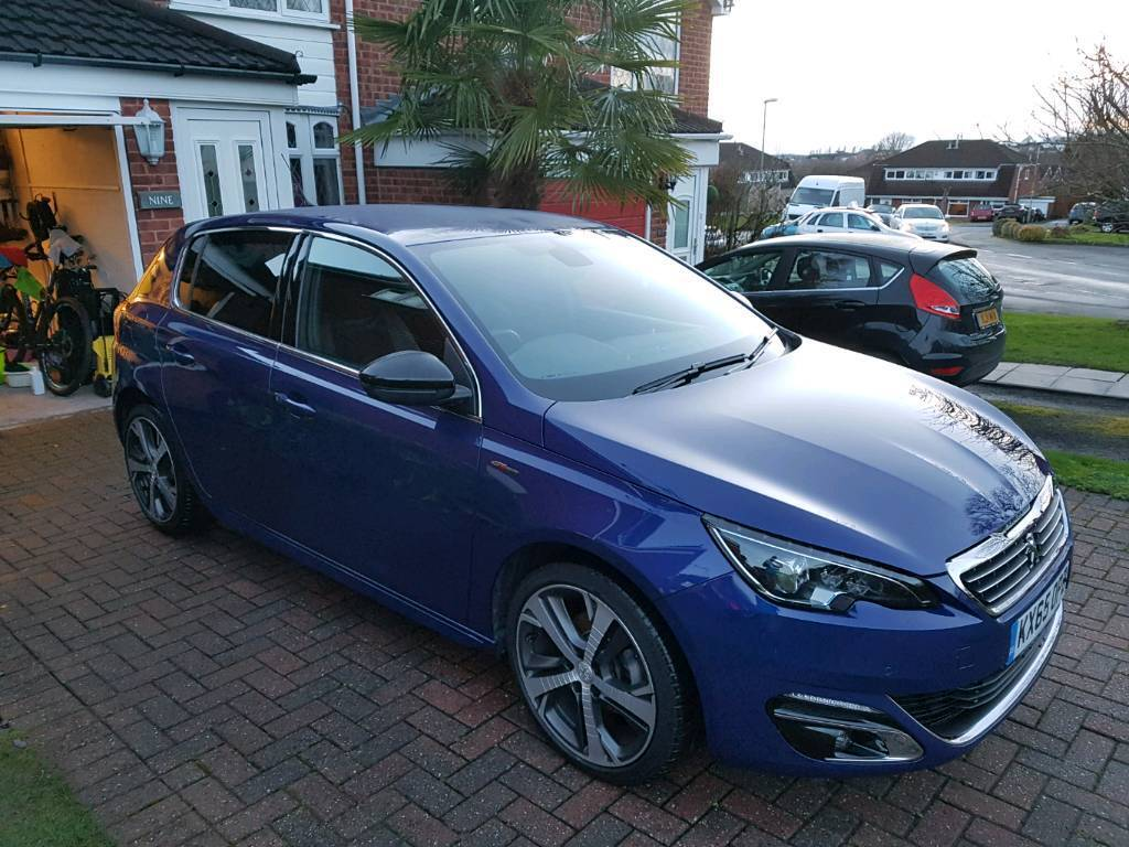peugeot 308 gt line metallic blue very good condition in brierley hill west midlands gumtree. Black Bedroom Furniture Sets. Home Design Ideas