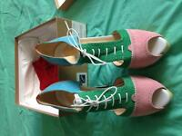 $350 Authentic Louboutin multicoloured heels, Retails for $995