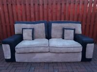 3 seater sofa & cuddle chair with footstool