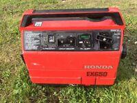 honda ex650 petrol engine generator excellent runner 240v 12v caravan boat battery charger free post