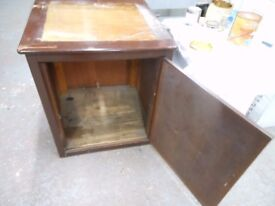 solid large wooden cupboard, log store, kitchen island. can deliver