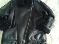 black sheepskin flying jacket size 14