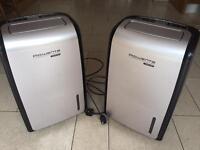 Pair of Rowenta dehumidifiers