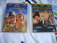 Jean De Florette & Manon Des Sources. 2 widescreen DVD's with English subtitles. excellent condition