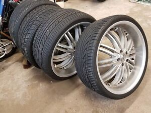 """22"""" rims and tires great condition 5x112"""