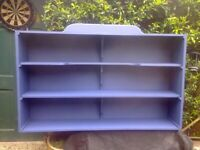 Large Kitchen/Wall Display/Storage/Bookcase Unit in Blue