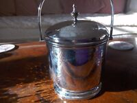 Possibly Victorian Silver plate biscuit barrel