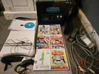 Wii consall (black) with games and extras