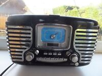 Past Times retro-style radion and CD player.