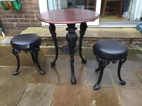 Pub furniture bar stools cast table
