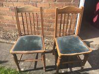 Antique Church Choir chairs