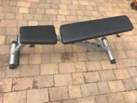 Powerline Adjustable Weight Bench, Black
