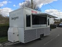 Mobile Catering Burger Van Fully Loaded Ready To Go