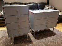 Tenzo Yay Designer Chest with 3 and 4 Drawers, Wood, Grey. two in price of one. Free delivery