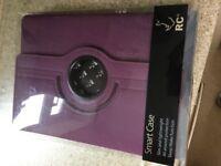 Purple iPad Air case.