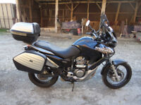 Honda Transalp Part service history, MOT 2 keys, ABS, Hand guards, Heated grips, Honda panniers