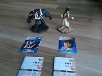 DISNEY INFINITY 2.0 MARVEL SUPER HEROES VENOM & DISNEY ORIGINALS ALADDIN FIGURES