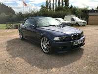 BMW M3 Convertible 3.2 Petrol Manual Stunning Low Mileage E46 Blue Full Service History