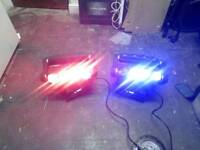 2 disco lights
