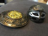 Helmet and shield - kids fancy dress