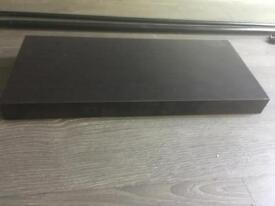 Ikea Persby 59x29x5 floating shelf black brown