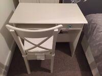 Desk & Chair (Veneer white)