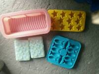 Baking Silicone moulds and poo cake moulds / ice cube trays