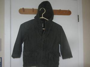 GYMBOREE Corduroy Coat, Size 4/5,Fleece Lined, khaki green