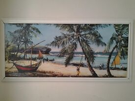Vintage tropical picture/print by Kenneth Webb